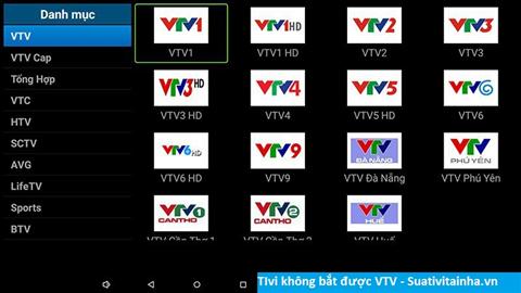 Tivi không bắt được VTV