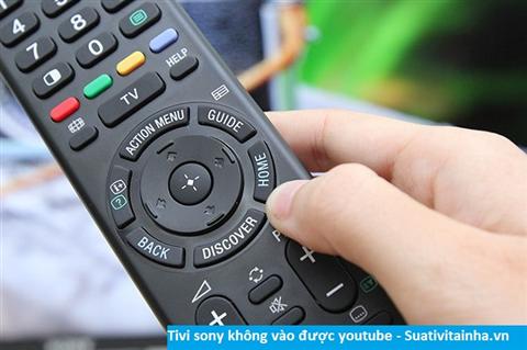 Tivi sony không vào được youtube