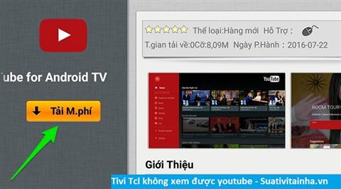 Tivi TCL không xem được youtube